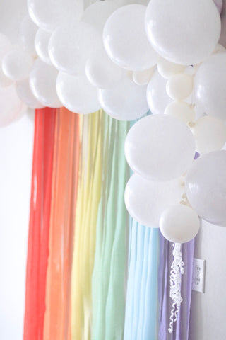 rainbow balloon streamers
