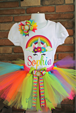 rainbow unicorn outfit tutu