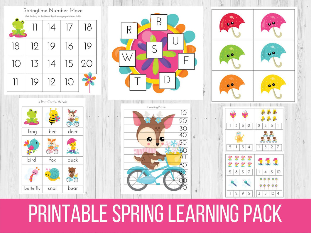 Spring Preschool Learning Pack