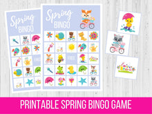 Load image into Gallery viewer, Spring BINGO, Easter Printable Game
