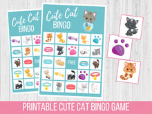 Load image into Gallery viewer, Cat BINGO Game, Birthday Party Game