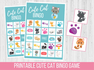 Cat BINGO Game, Birthday Party Game