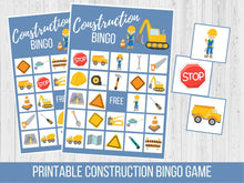 Load image into Gallery viewer, Construction Birthday BINGO Game