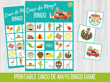 Load image into Gallery viewer, Cinco de Mayo BINGO, Birthday Party Game
