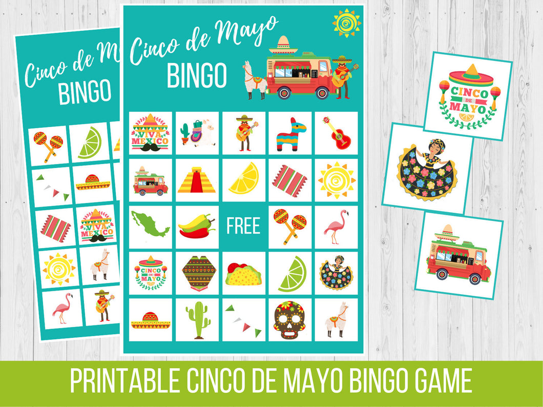Cinco de Mayo BINGO, Birthday Party Game