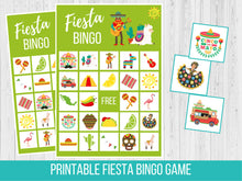 Load image into Gallery viewer, Fiesta BINGO, Birthday Party Game