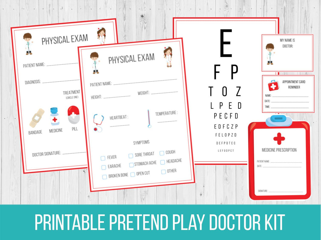 Pretend Play Doctor Office Printable