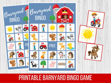 Load image into Gallery viewer, Barnyard Birthday BINGO