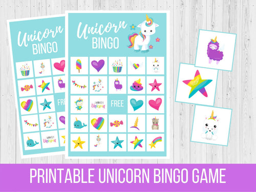 Rainbow Unicorn BINGO, Family Game Night