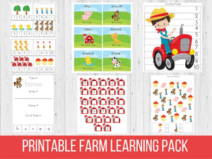 Farm Preschool Learning Pack