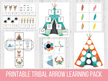 Load image into Gallery viewer, Tribal Arrow Preschool Learning Pack