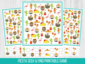 Fiesta Seek and Find Birthday Party Game