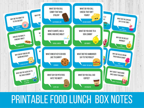 Lunchbox Notes Kawaii Food Theme, Motivational Love Notes