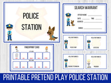 Load image into Gallery viewer, Pretend Play Police Station Printable