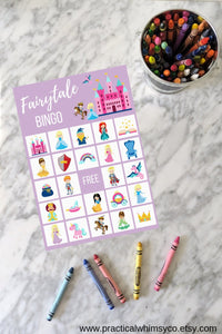 Fairytale BINGO Birthday Printable Party Game