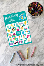 Load image into Gallery viewer, Pool Party BINGO, Birthday Party Game