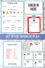 Load image into Gallery viewer, Pretend Play Vet Office Printable
