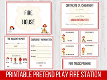 Load image into Gallery viewer, Pretend Play Firefighter Printable