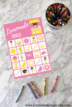 Load image into Gallery viewer, Lemonade Stand BINGO, Printable Birthday Game
