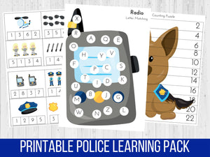 Police Officer Learning Pack