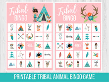 Load image into Gallery viewer, Tribal Woodland Animal BINGO, Family Game Night