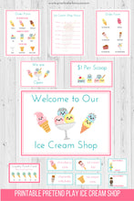 Load image into Gallery viewer, Ice Cream Shop Pretend Play Printable