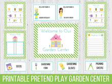 Load image into Gallery viewer, Dramatic Play Garden Center Printable