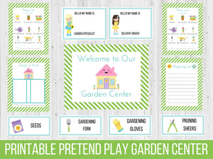 Dramatic Play Garden Center Printable