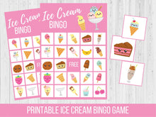 Load image into Gallery viewer, Ice Cream BINGO Birthday Party Game
