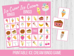 Ice Cream BINGO Birthday Party Game