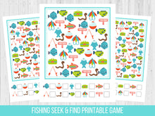 Load image into Gallery viewer, Fishing Birthday Seek and Find Party Game