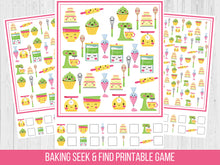 Load image into Gallery viewer, Bakery Seek and Find Birthday Party game