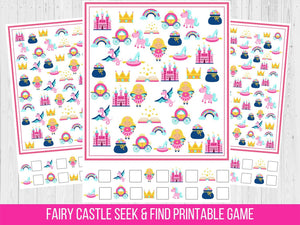 Fairy Castle Seek and Find Birthday Party game