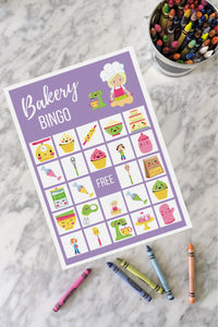 Bakery BINGO Birthday Party Game