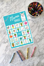 Load image into Gallery viewer, Llama BINGO Birthday Party Game