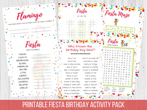 Cinco de Mayo Activity Pack Printable Bundle