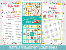 Load image into Gallery viewer, Cinco de Mayo Activity Pack Printable Bundle