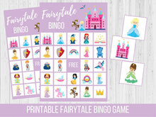 Load image into Gallery viewer, Fairytale BINGO Birthday Printable Party Game