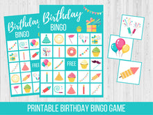 Load image into Gallery viewer, Birthday Party BINGO Printable Game