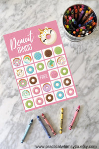 Donut BINGO Birthday Party Game