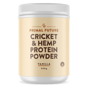 PROTEIN POWDER - VANILLA CRICKET & HEMP 500g