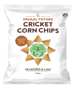 CRICKET CORN CHIPS - JALAPENO & LIME 120g