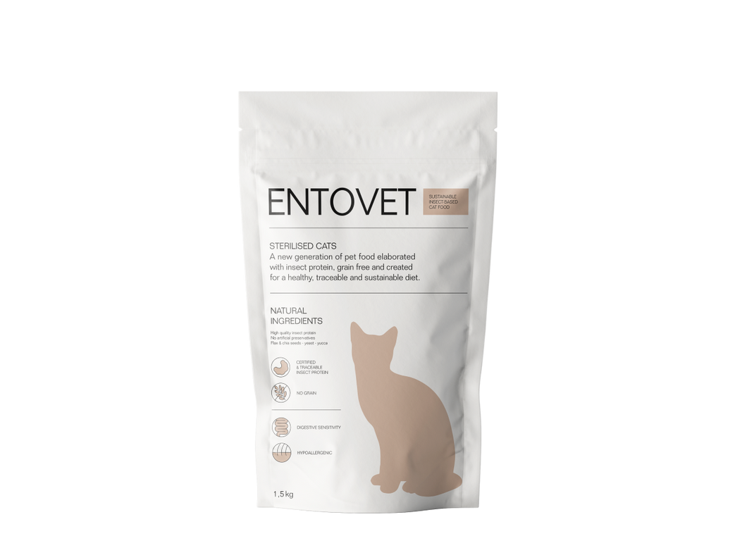 INSECT-BASED KIBBLE CAT FOOD 1.5KG