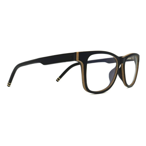 Wooden Blue Light Computer Glasses - Commuter - Side