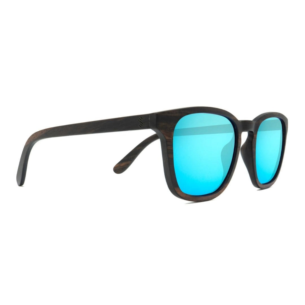 Traveler - Ice Blue - Wood Sunglasses