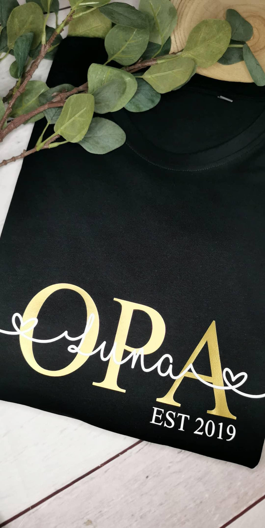 Shirt OPA personalisiert Wunschname Mom / Dad