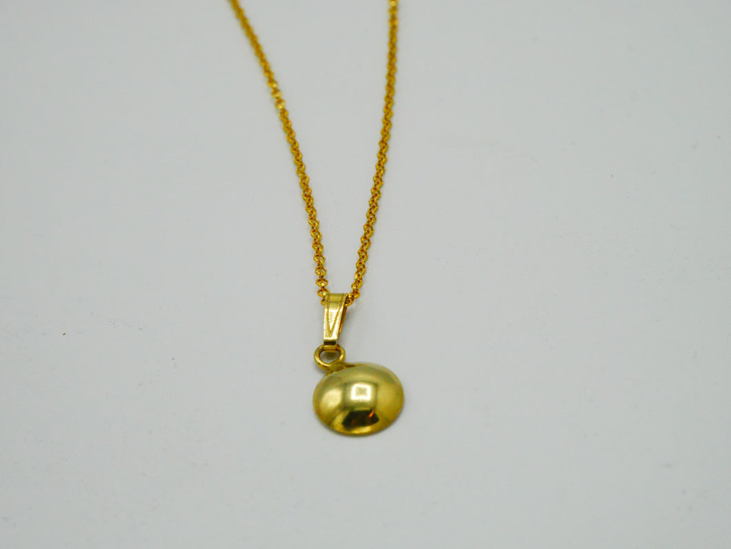 silver goldplated chain round