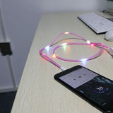 New Fancy Glow with the Music Beat Charging Cable for iPhone/Android/Type-C