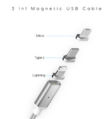 Magnetic Charging Cable USB/Type C/Lighting with Data Transfer