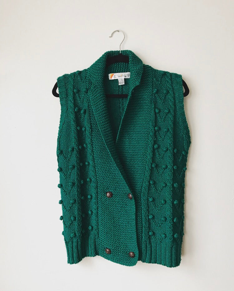 Vintage Green Sweater Vest